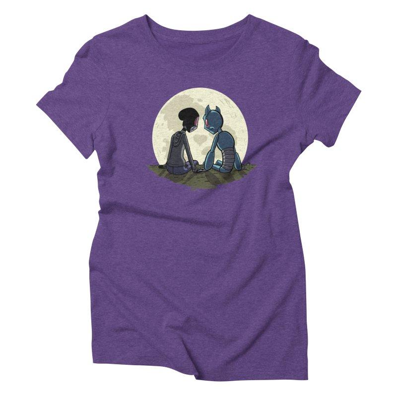 Transypoo + Skel Women's Triblend T-Shirt by The Transypoo Tee Shirt Shop!