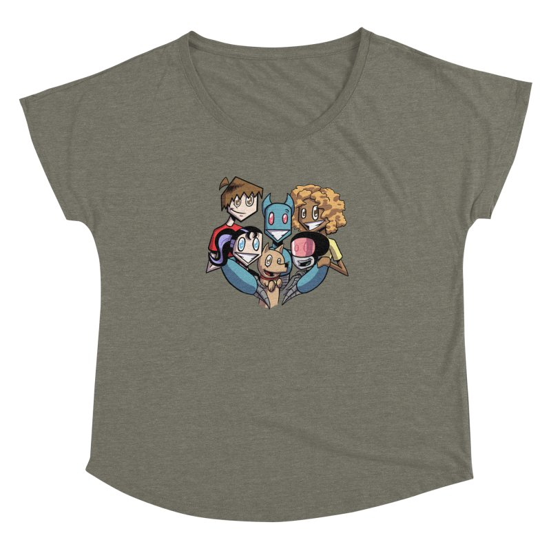 10th Anniversary! Women's Dolman Scoop Neck by The Transypoo Tee Shirt Shop!