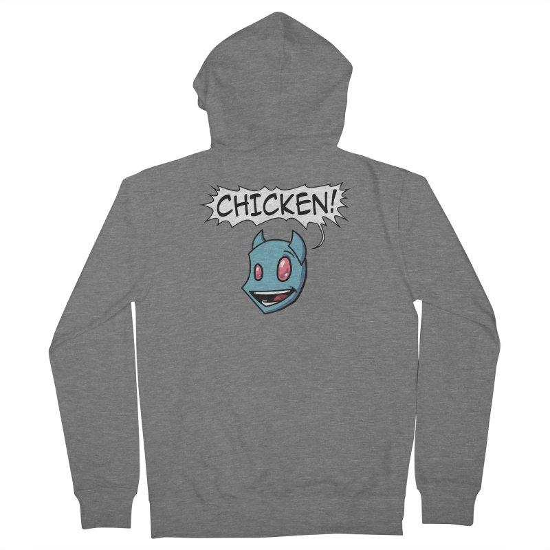 CHICKEN! Men's Zip-Up Hoody by The Transypoo Tee Shirt Shop!