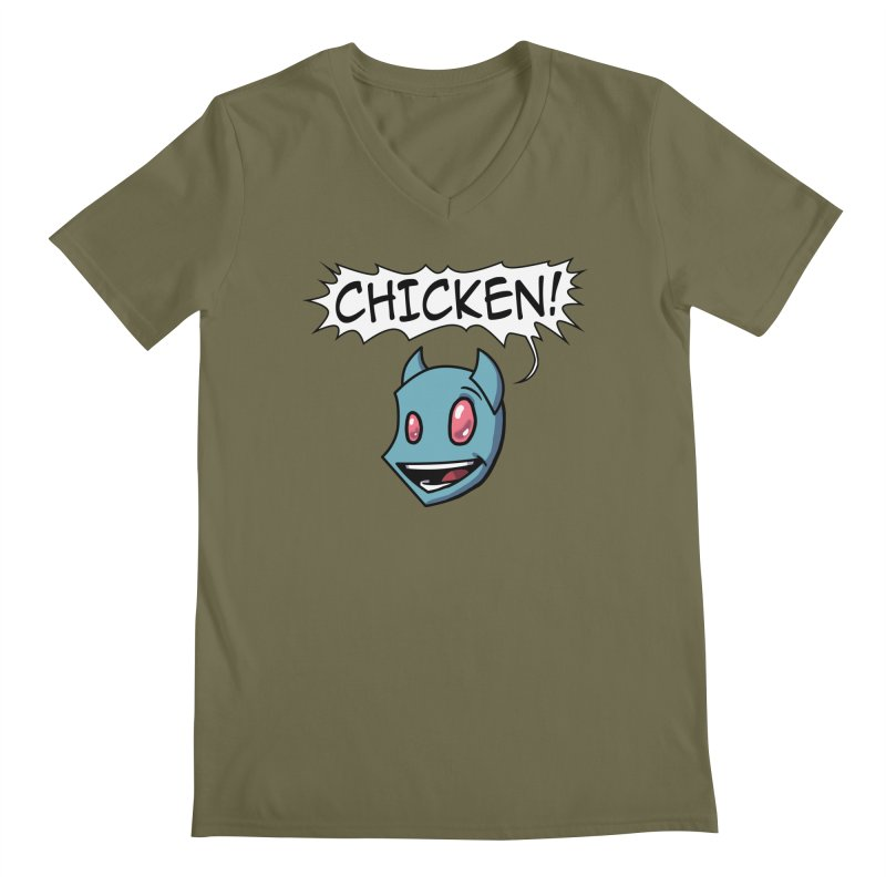 CHICKEN! Men's V-Neck by The Transypoo Tee Shirt Shop!