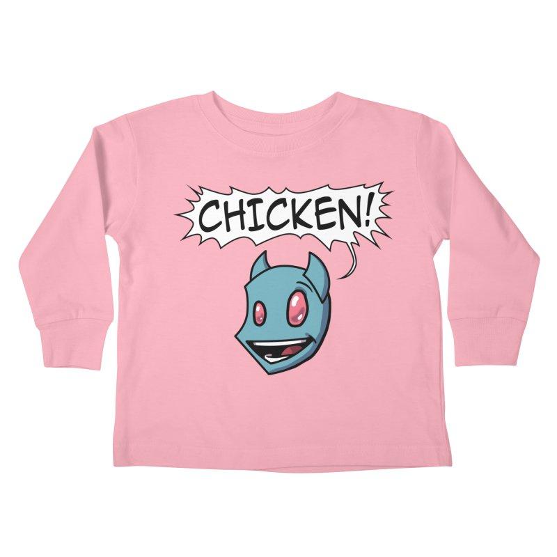 CHICKEN! Kids Toddler Longsleeve T-Shirt by The Transypoo Tee Shirt Shop!