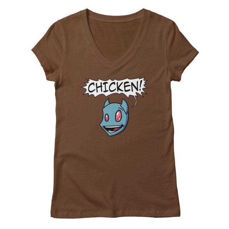 CHICKEN! Women's Regular V-Neck by The Transypoo Tee Shirt Shop!