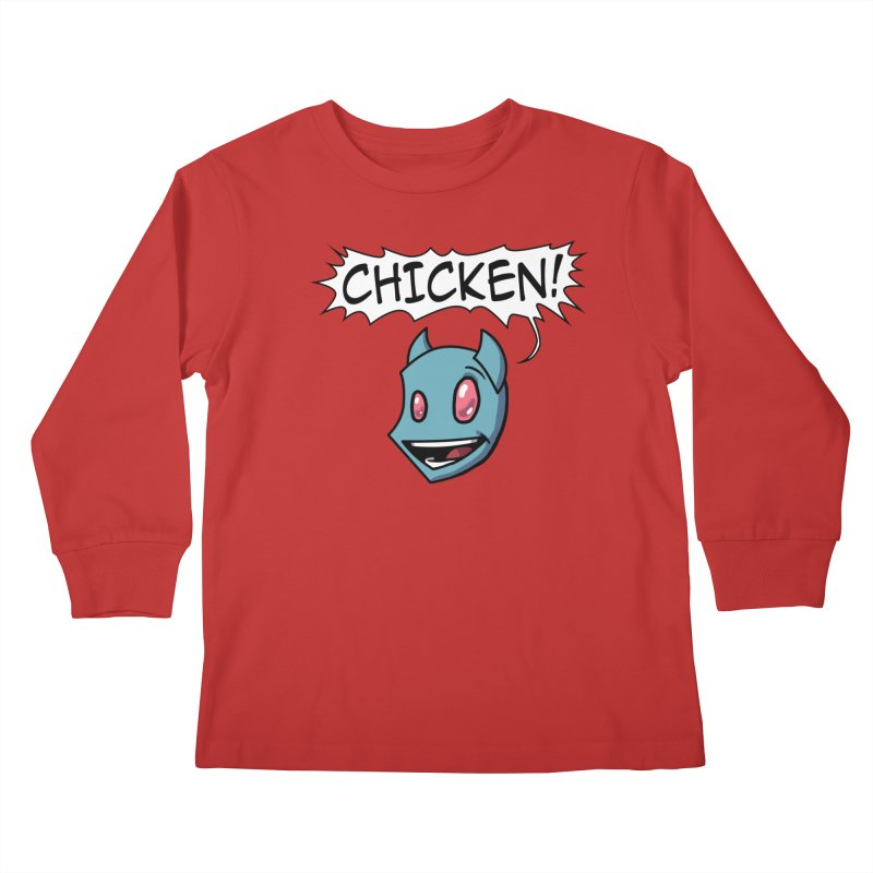 CHICKEN! Kids Longsleeve T-Shirt by The Transypoo Tee Shirt Shop!