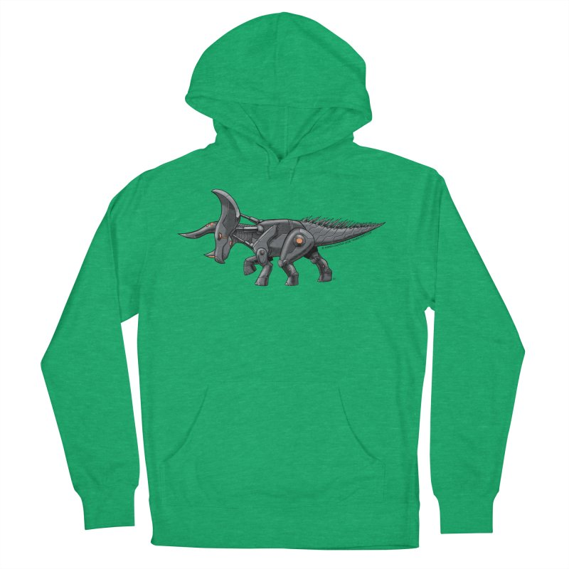 Tricerabot Men's French Terry Pullover Hoody by The Transypoo Tee Shirt Shop!