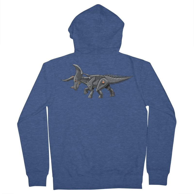 Tricerabot Men's French Terry Zip-Up Hoody by The Transypoo Tee Shirt Shop!