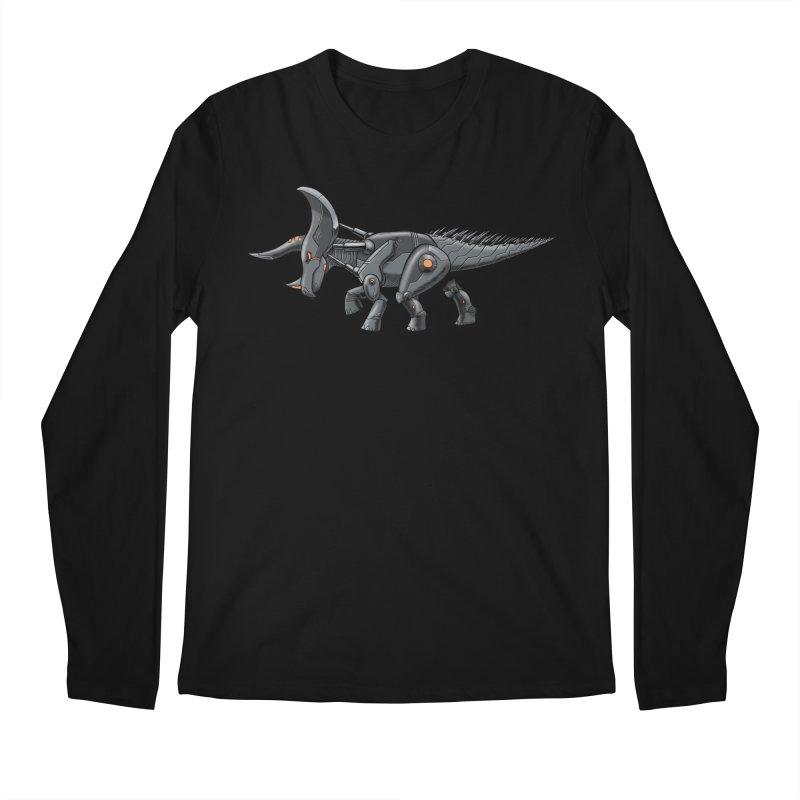 Tricerabot Men's Regular Longsleeve T-Shirt by The Transypoo Tee Shirt Shop!
