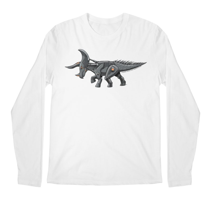 Tricerabot Men's Regular Longsleeve T-Shirt by The Transypoo Tee Shirt Shop!