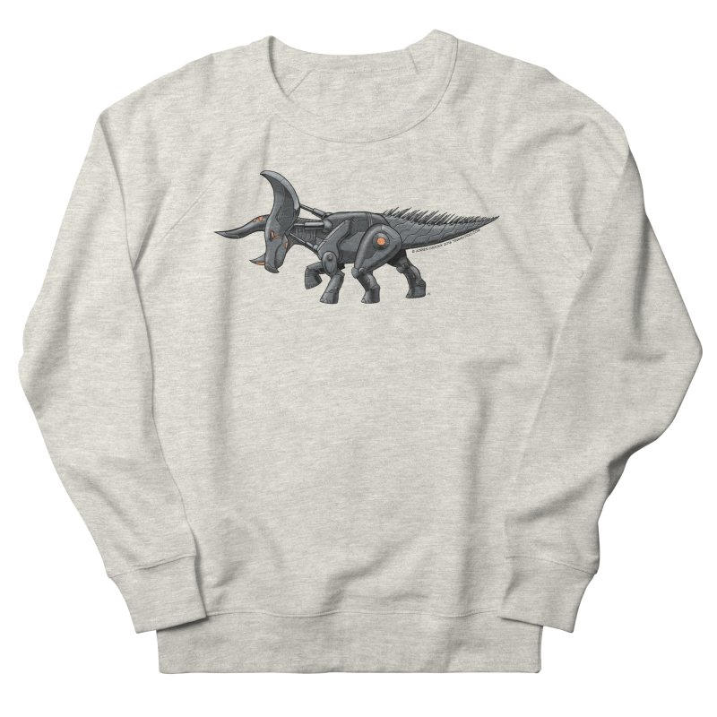 Tricerabot Women's French Terry Sweatshirt by The Transypoo Tee Shirt Shop!