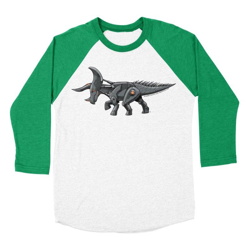 Tricerabot Women's Baseball Triblend Longsleeve T-Shirt by The Transypoo Tee Shirt Shop!