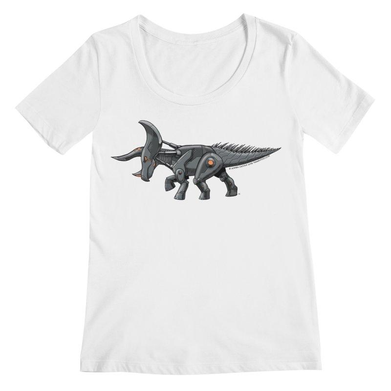 Tricerabot Women's Regular Scoop Neck by The Transypoo Tee Shirt Shop!