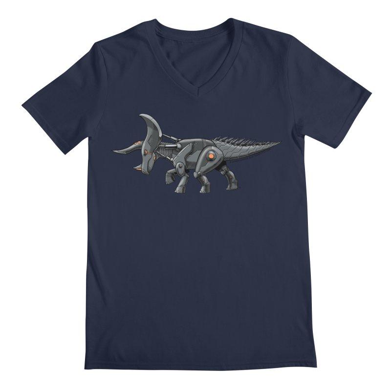 Tricerabot Men's Regular V-Neck by The Transypoo Tee Shirt Shop!