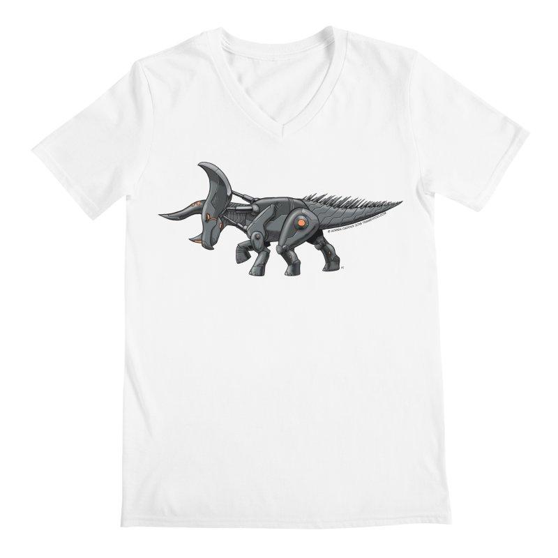 Tricerabot Men's V-Neck by The Transypoo Tee Shirt Shop!