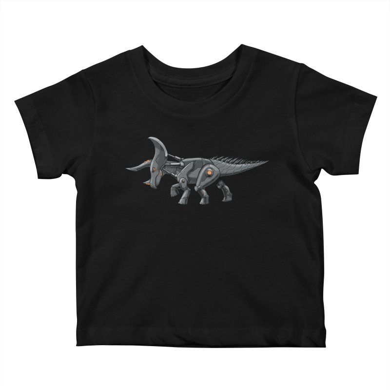 Tricerabot Kids Baby T-Shirt by The Transypoo Tee Shirt Shop!