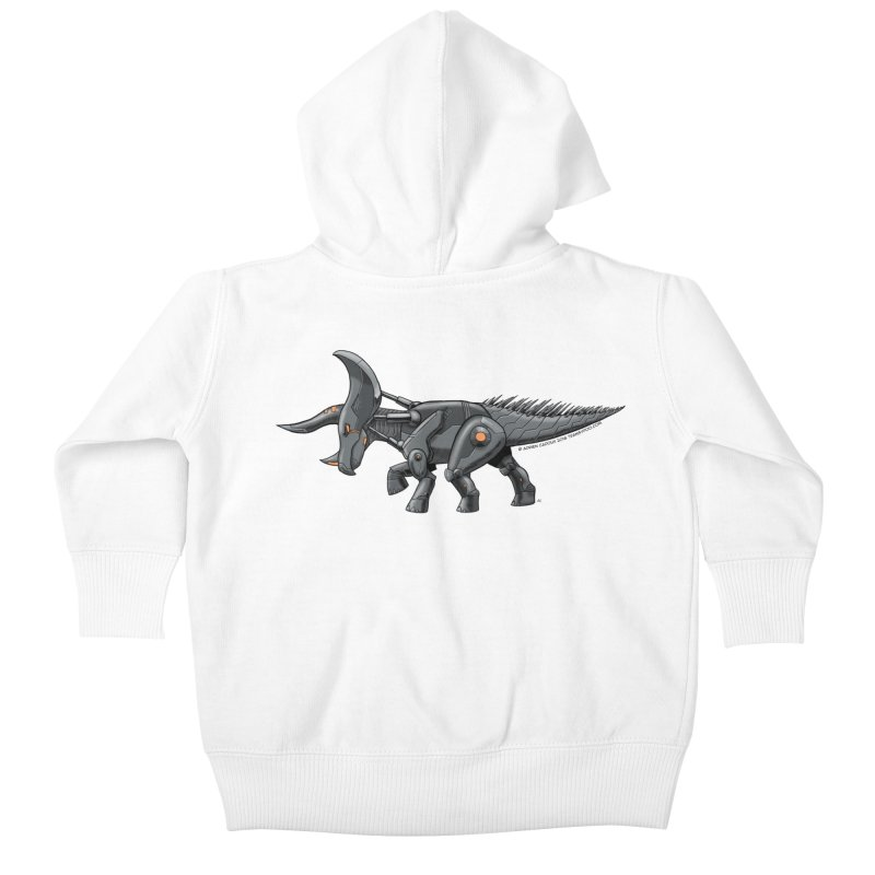Tricerabot Kids Baby Zip-Up Hoody by The Transypoo Tee Shirt Shop!
