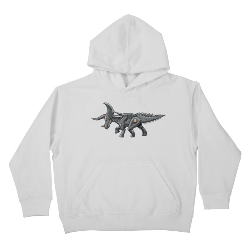 Tricerabot Kids Pullover Hoody by The Transypoo Tee Shirt Shop!