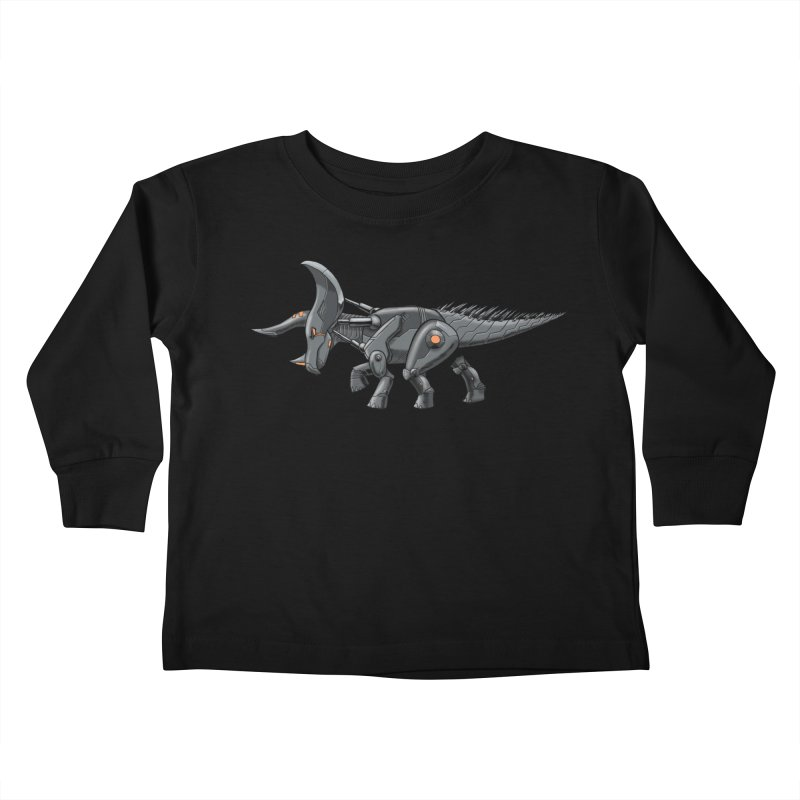 Tricerabot Kids Toddler Longsleeve T-Shirt by The Transypoo Tee Shirt Shop!
