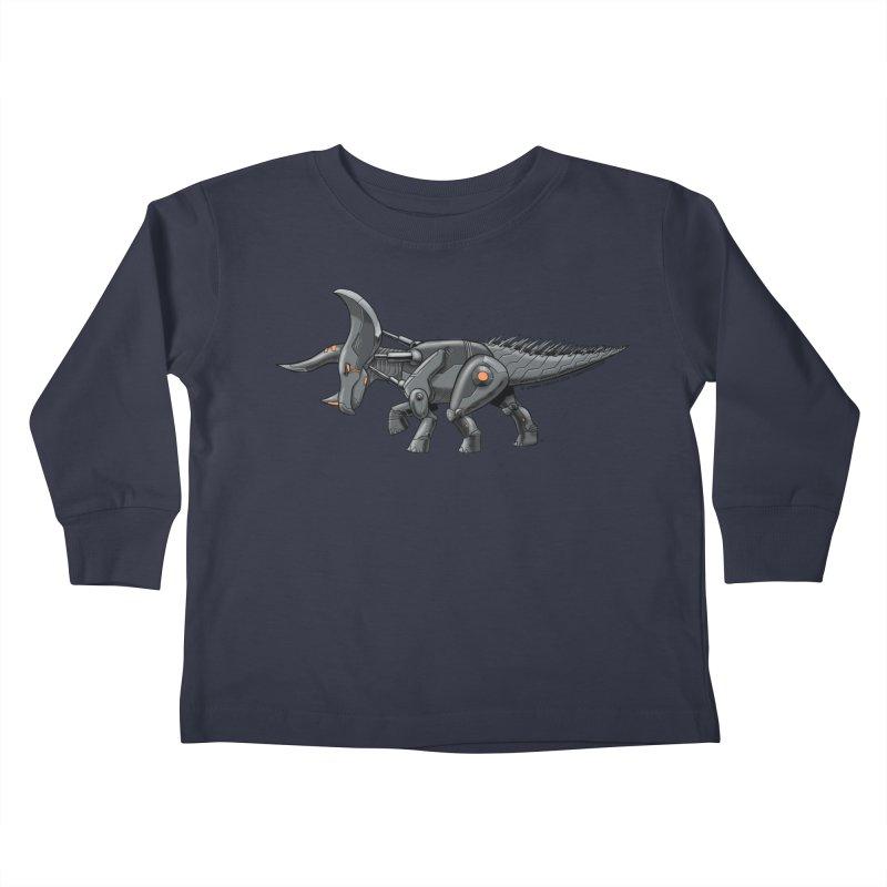 Tricerabot Kids Toddler Longsleeve T-Shirt by The Transypoo Tee Shirt Shop!