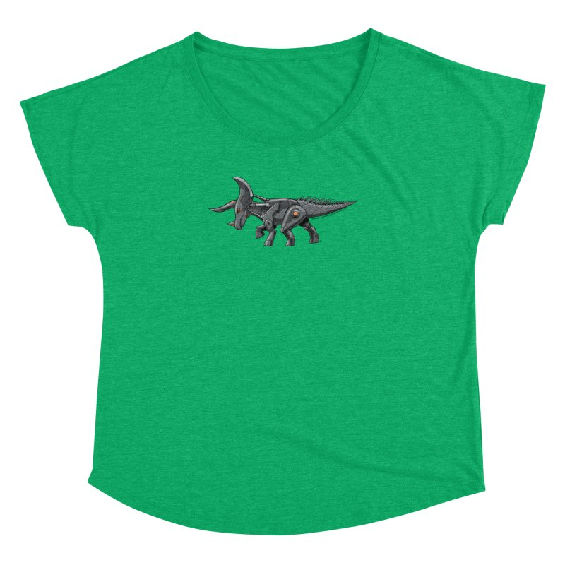 Tricerabot Women's Dolman Scoop Neck by The Transypoo Tee Shirt Shop!