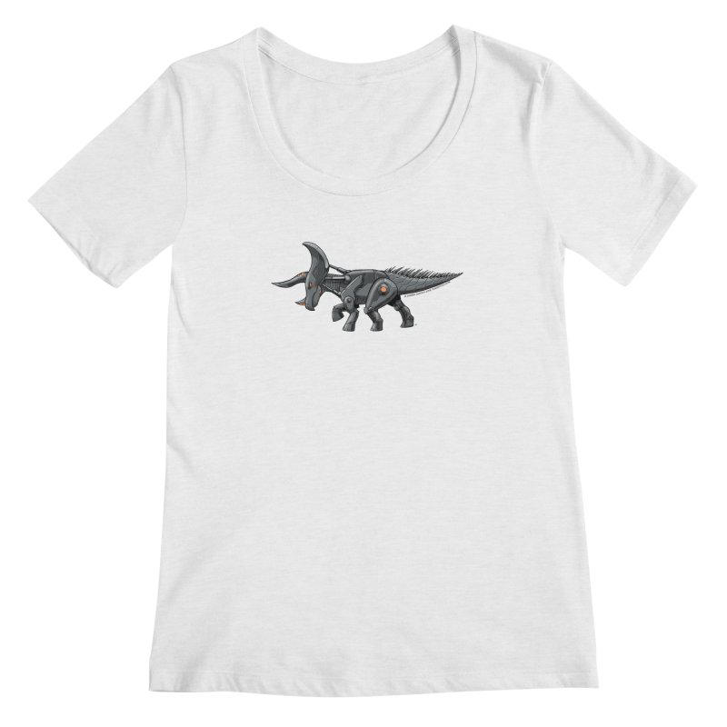 Tricerabot Women's Regular Scoop Neck by The Transypoo Tee Shirt Shop!