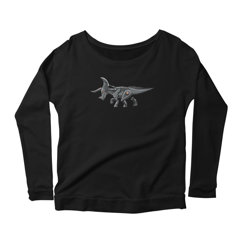 Tricerabot Women's Scoop Neck Longsleeve T-Shirt by The Transypoo Tee Shirt Shop!