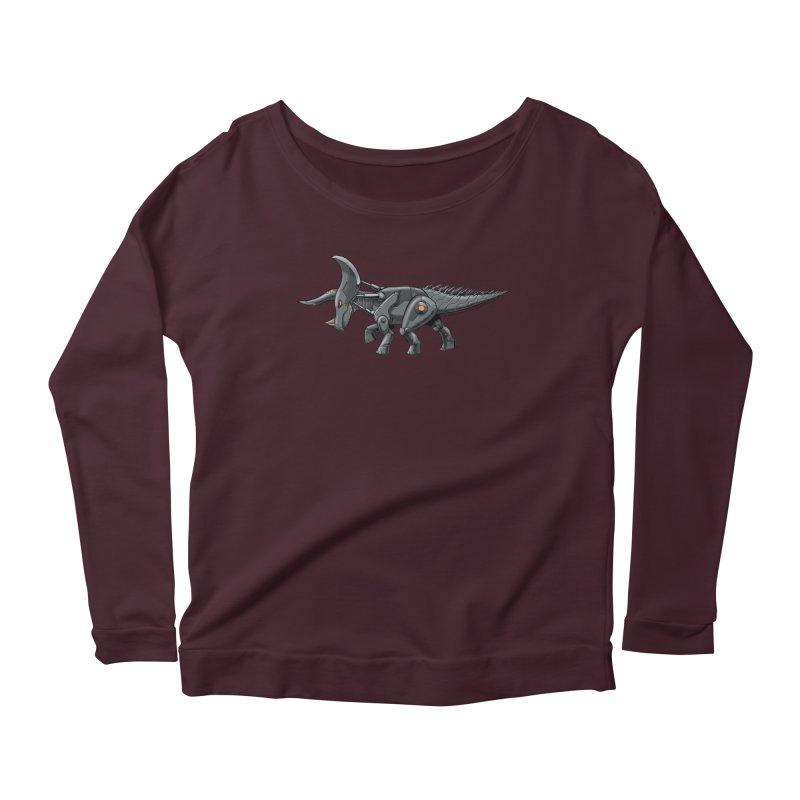 Tricerabot Women's Scoop Neck Longsleeve T-Shirt by The Transypoo Tee Shirt Shop!
