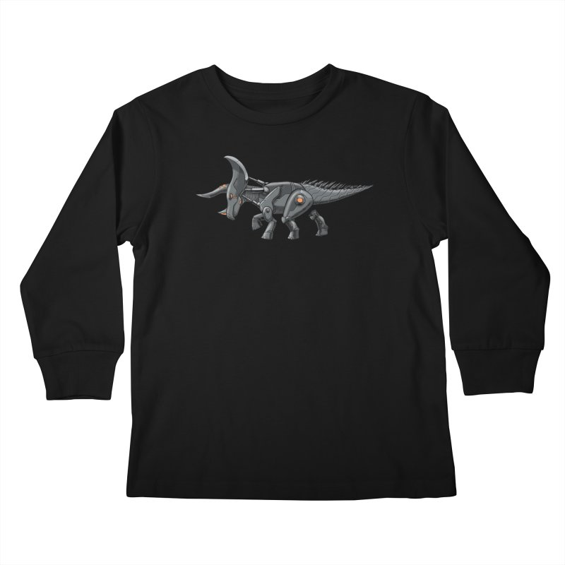 Tricerabot Kids Longsleeve T-Shirt by The Transypoo Tee Shirt Shop!