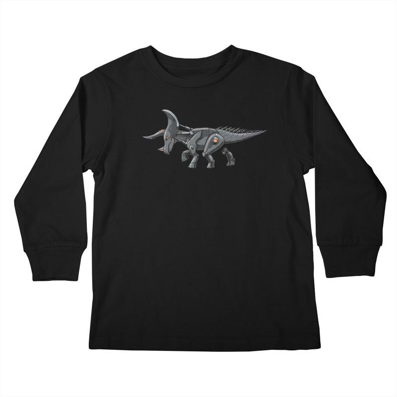 Tricerabot Kids Longsleeve T-Shirt by The Transypoo Tee Shirt Shop!