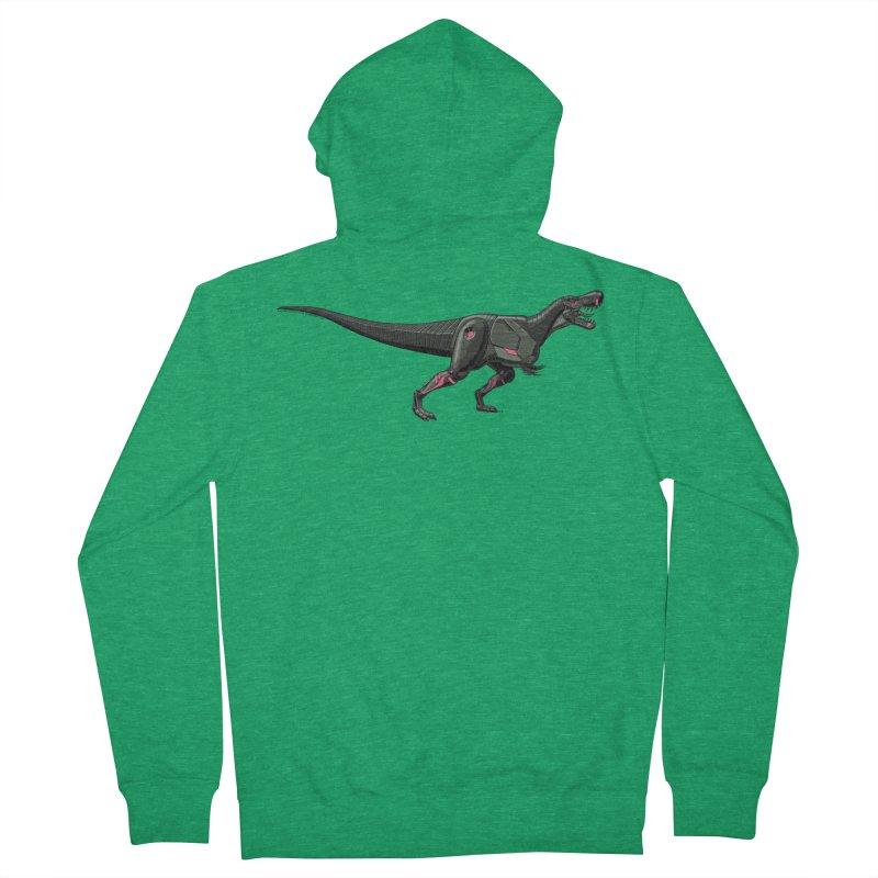 Robosaurus-Rex Men's Zip-Up Hoody by The Transypoo Tee Shirt Shop!
