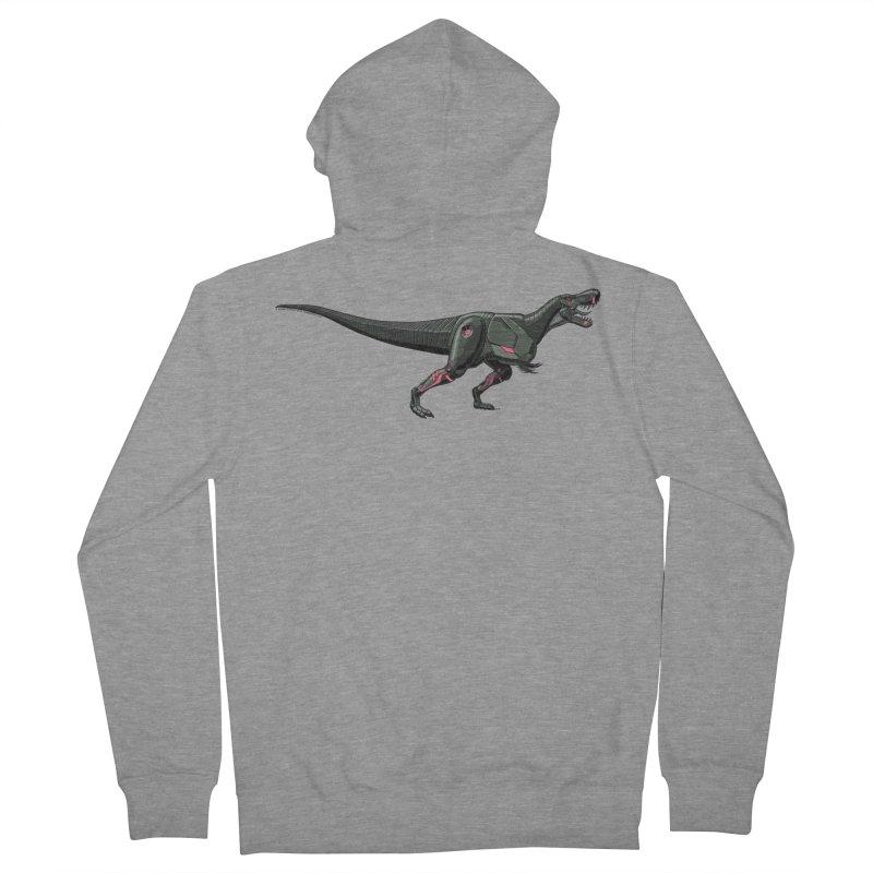Robosaurus-Rex Men's French Terry Zip-Up Hoody by The Transypoo Tee Shirt Shop!