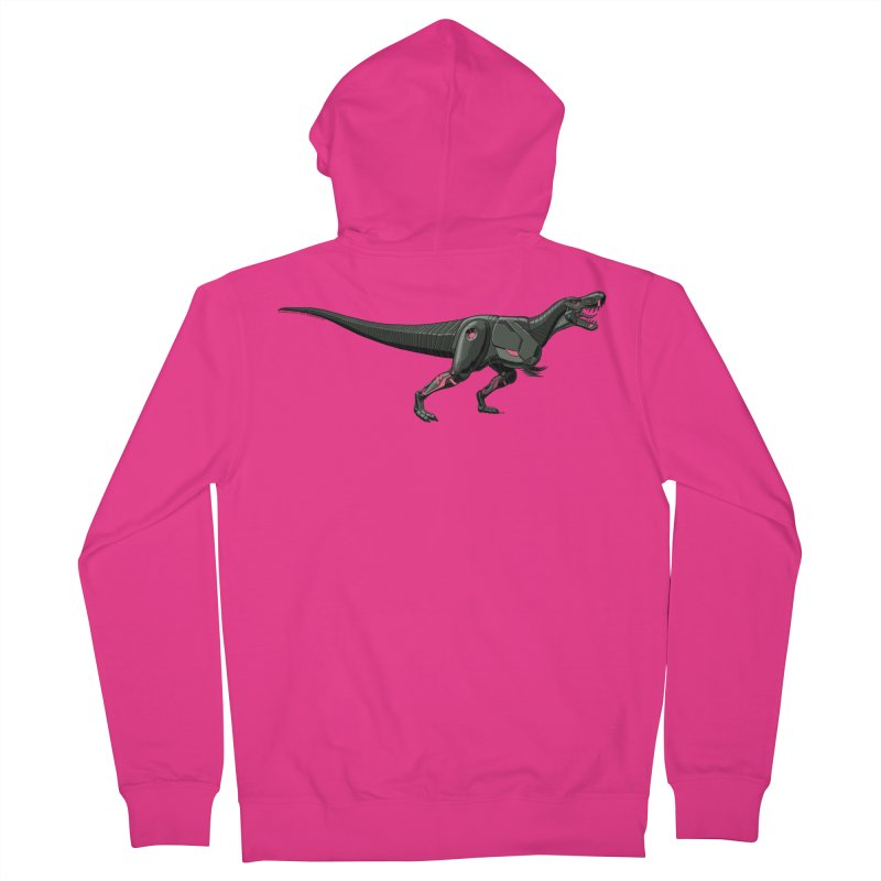 Robosaurus-Rex Men's Zip-Up Hoody by The Transypoo Tee Shirt Shop!