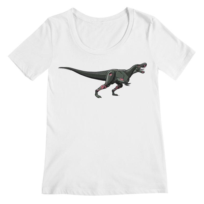Robosaurus-Rex Women's Regular Scoop Neck by The Transypoo Tee Shirt Shop!
