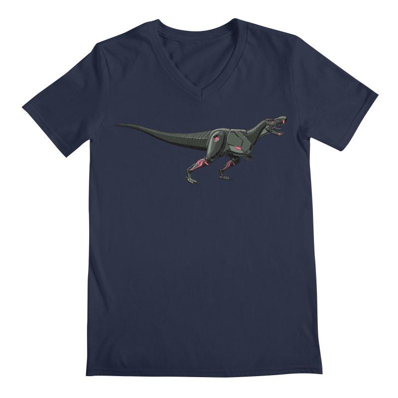 Robosaurus-Rex Men's Regular V-Neck by The Transypoo Tee Shirt Shop!