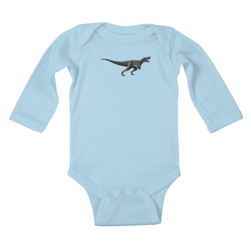 Robosaurus-Rex Kids Baby Longsleeve Bodysuit by The Transypoo Tee Shirt Shop!