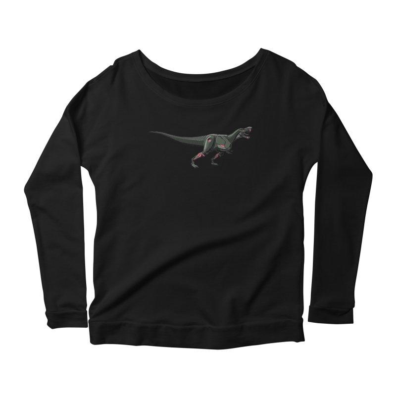 Robosaurus-Rex Women's Scoop Neck Longsleeve T-Shirt by The Transypoo Tee Shirt Shop!