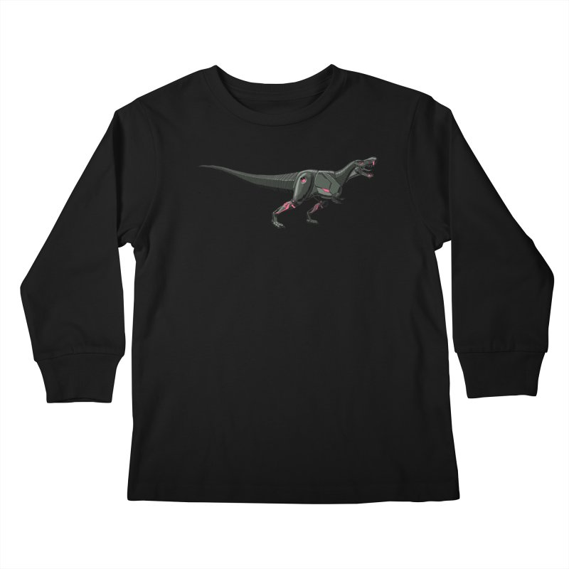 Robosaurus-Rex Kids Longsleeve T-Shirt by The Transypoo Tee Shirt Shop!