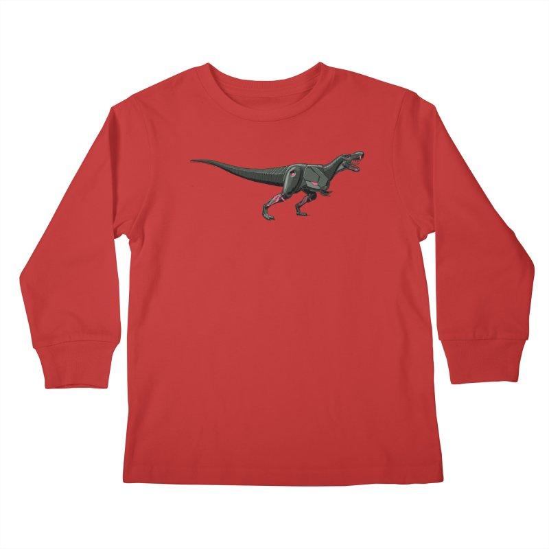 Robosaurus-Rex Kids Longsleeve T-Shirt by The Transypoo Tee Shirt Shop!