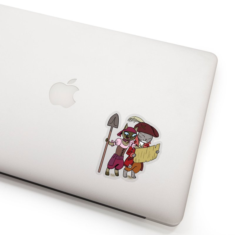 Pirates of the Cat-ribbean Sticker Accessories Sticker by The Transypoo Tee Shirt Shop!
