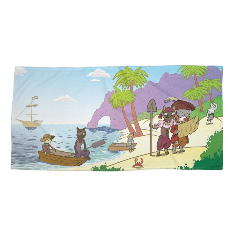 Pirates of the Cat-ribbean Accessories Beach Towel by The Transypoo Tee Shirt Shop!