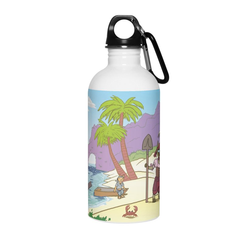 Pirates of the Cat-ribbean Accessories Water Bottle by The Transypoo Tee Shirt Shop!