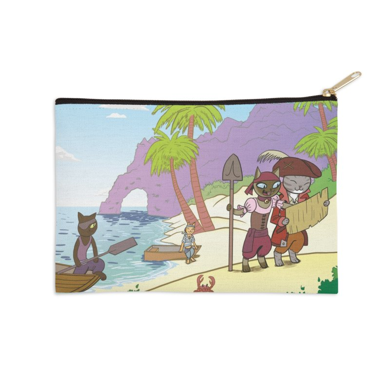 Pirates of the Cat-ribbean Accessories Zip Pouch by The Transypoo Tee Shirt Shop!