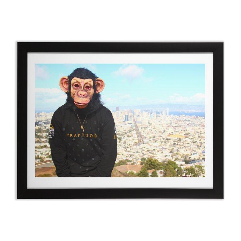 TRAP MONKIE CANVAS Home Framed Fine Art Print by TrapMonkie