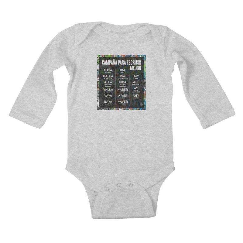 Escribir Mejor Kids Baby Longsleeve Bodysuit by TravsTs