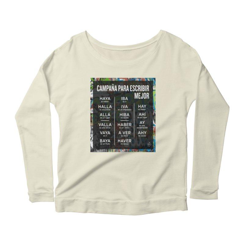 Escribir Mejor Women's Scoop Neck Longsleeve T-Shirt by TravsTs