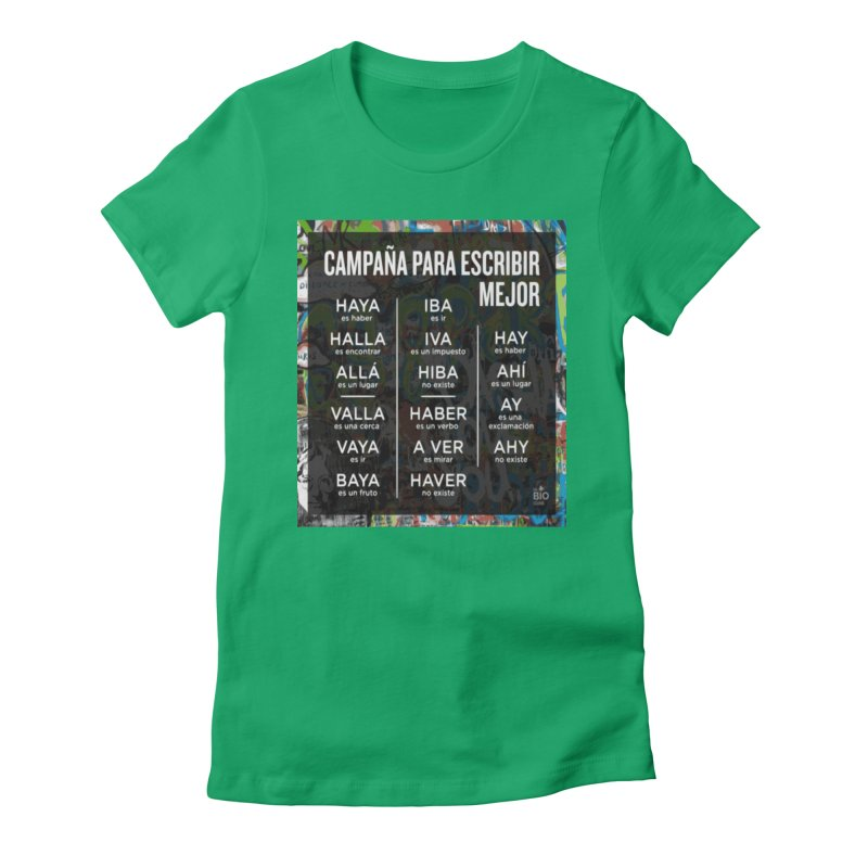 Escribir Mejor Women's Fitted T-Shirt by TravsTs