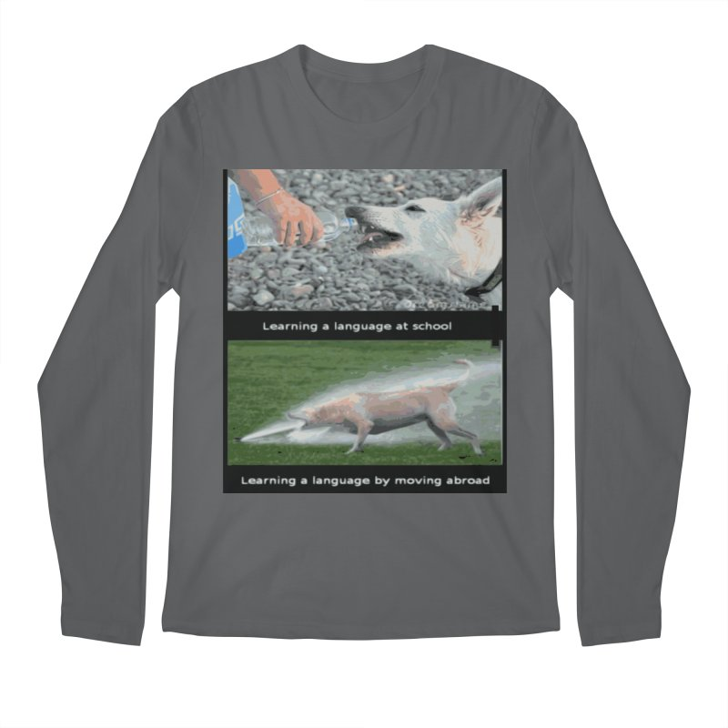 Learning Languages Men's Longsleeve T-Shirt by TravsTs