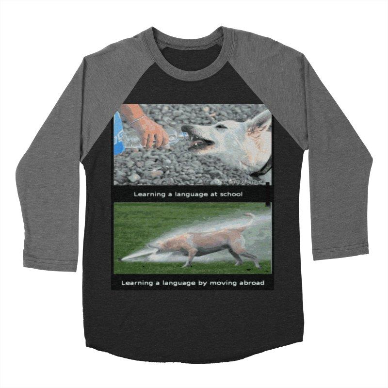 Learning Languages Women's Baseball Triblend Longsleeve T-Shirt by TravsTs