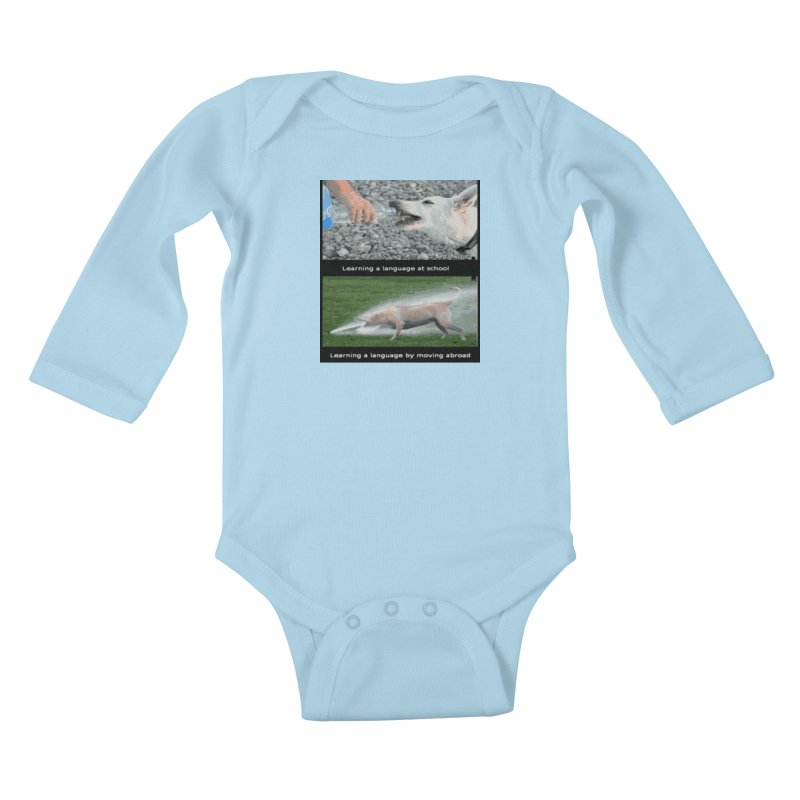 Learning Languages Kids Baby Longsleeve Bodysuit by TravsTs