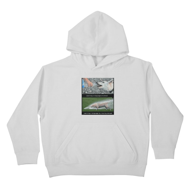 Learning Languages Kids Pullover Hoody by TravsTs