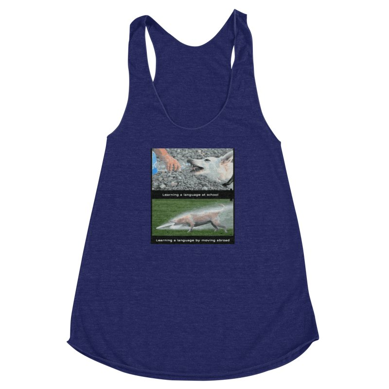 Learning Languages Women's Racerback Triblend Tank by TravsTs