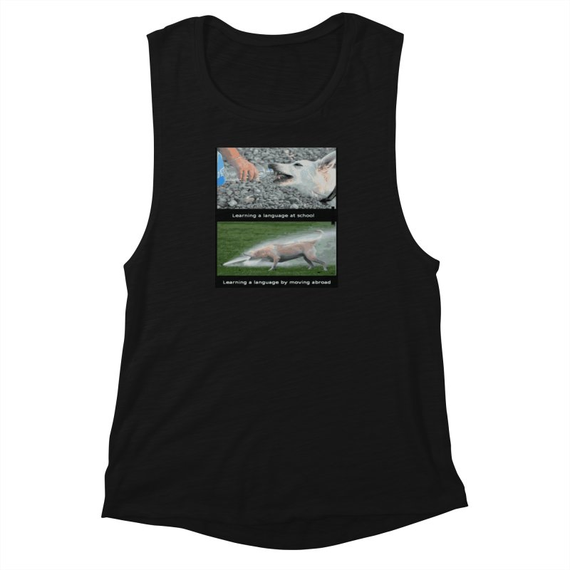 Learning Languages Women's Muscle Tank by TravsTs